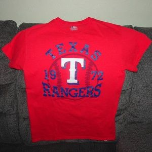 wholesale dealer 3572f 32d20 Boys Red Texas Rangers T-Shirt Large